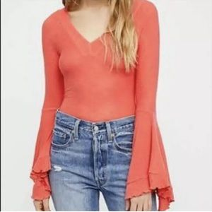 Free People Intimately So Dramatic Bell Sleeve